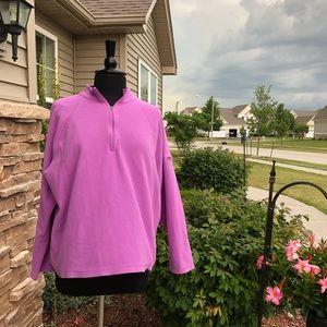 L.L. Bean Fleece Pullover - Hot Pink EUC